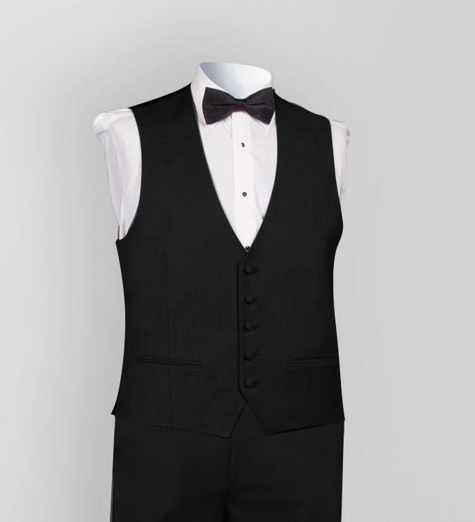 Justin Alexander Matching Black Vest