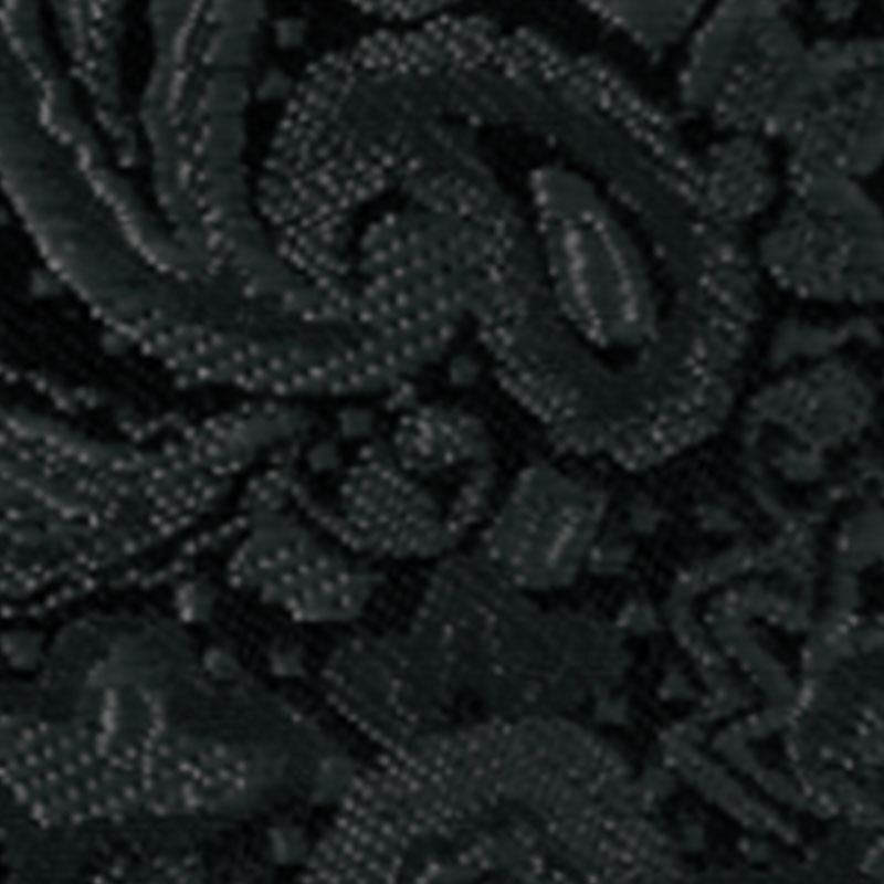 Larr Brio Black Paisley Modern Solid Self Tie Long Tie