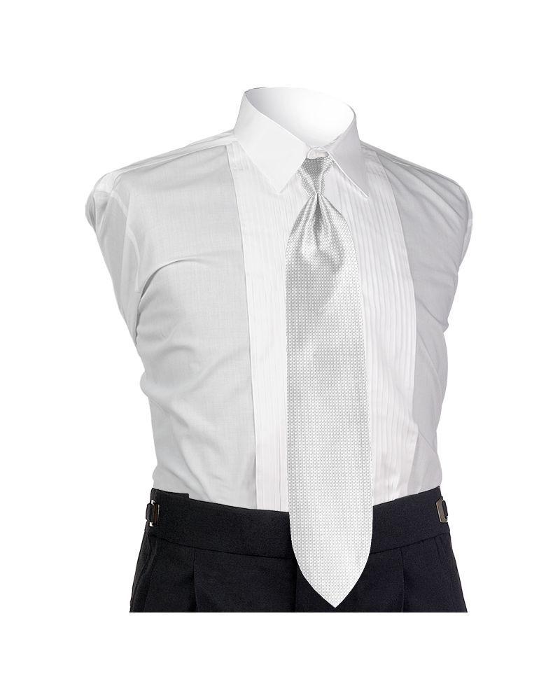 White Solid Tie