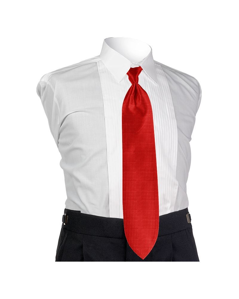 Fire Red Solid Tie