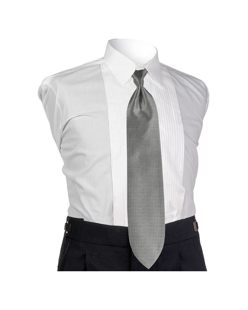 Platinum Solid Tie