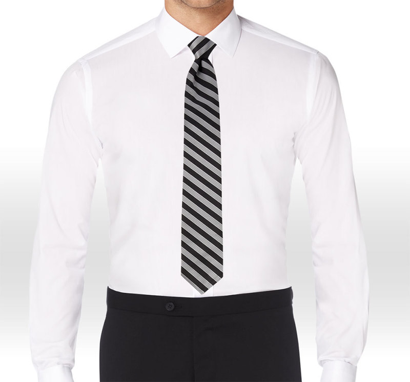 Allure Men Matching Black & Cement Striped Long Tie