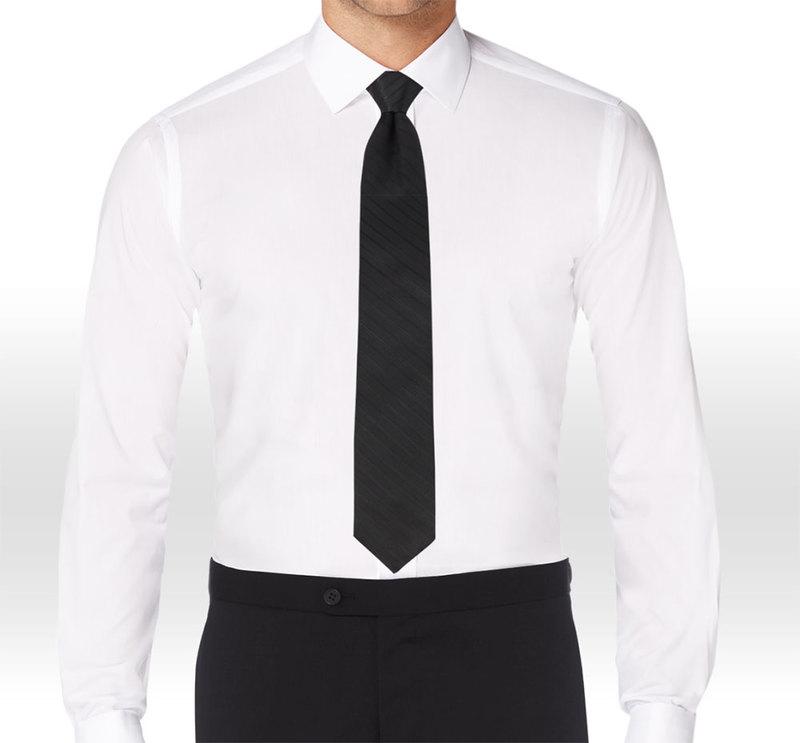 Allure Men Matching Black & Light Black Striped Long Tie