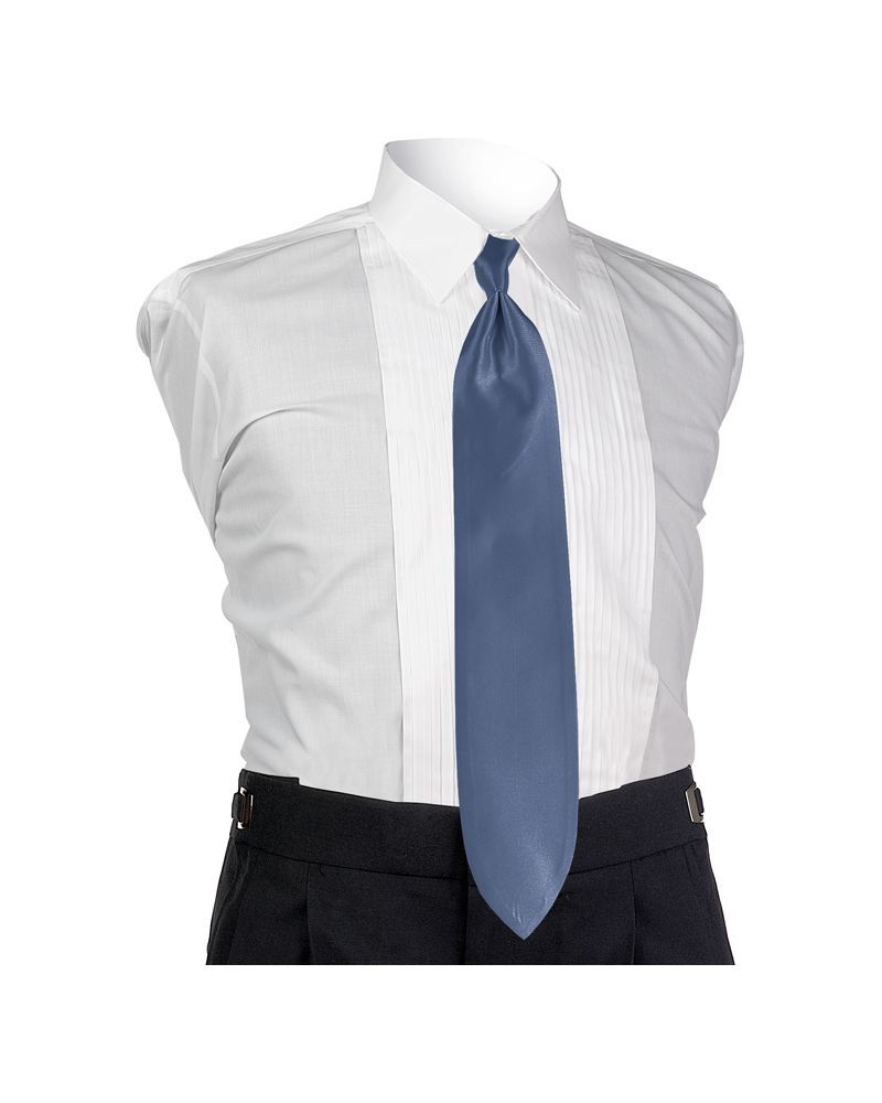 Haze Blue Solid Tie