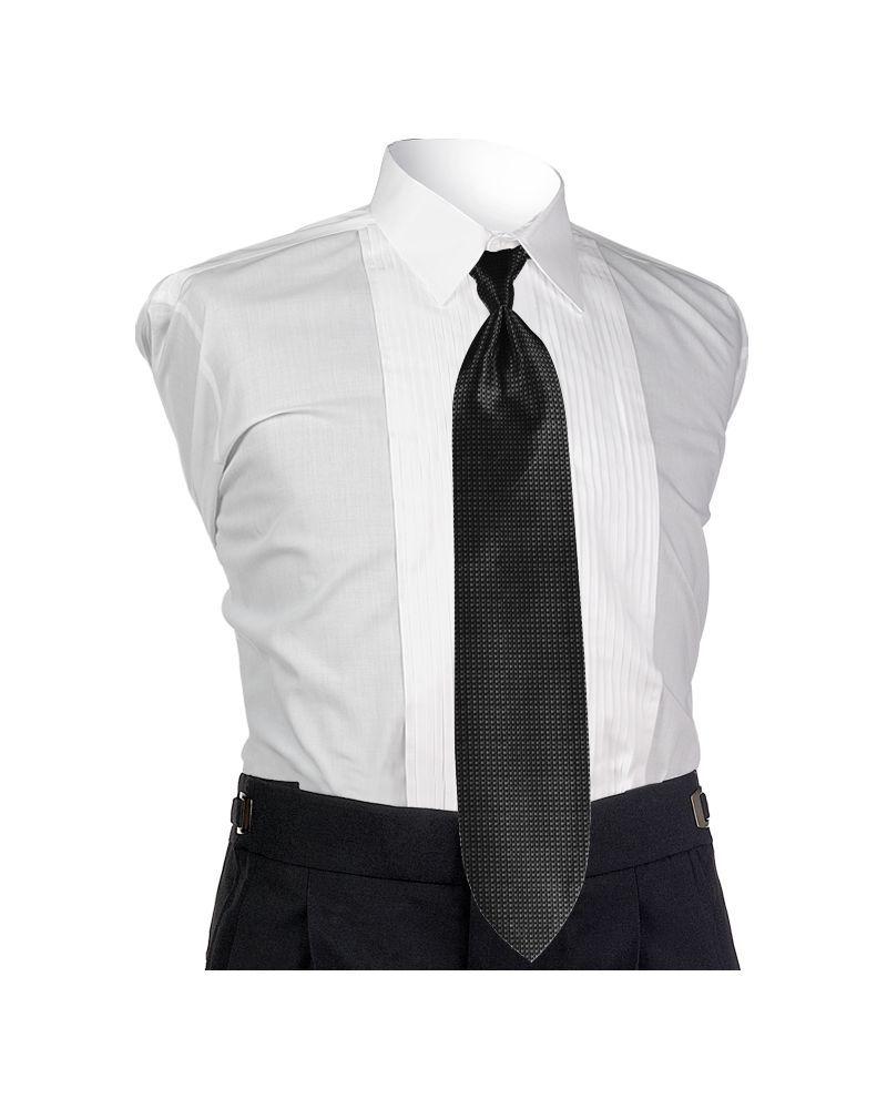 Black Solid Tie