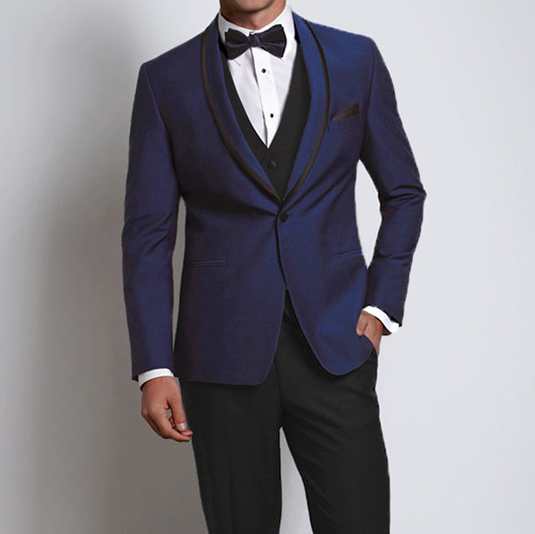Johnny Wilde Royal Blue slim shawl tuxedo