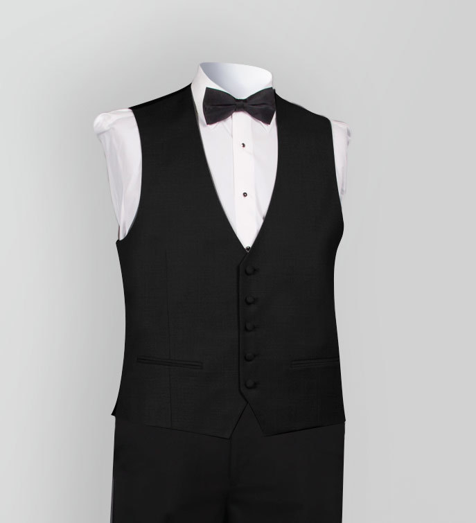 LUXE Faille Matching Black Vest