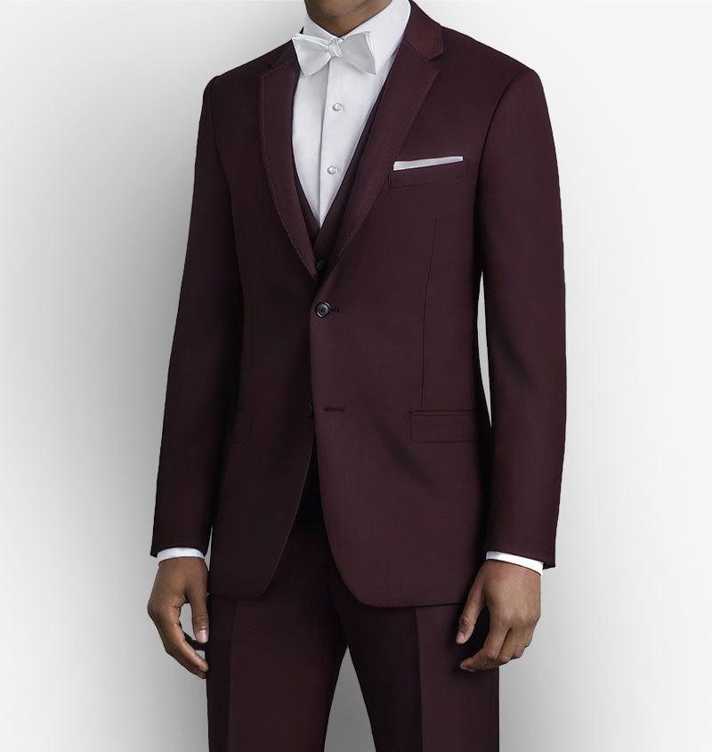 Burgundy Pick Stitched Suit