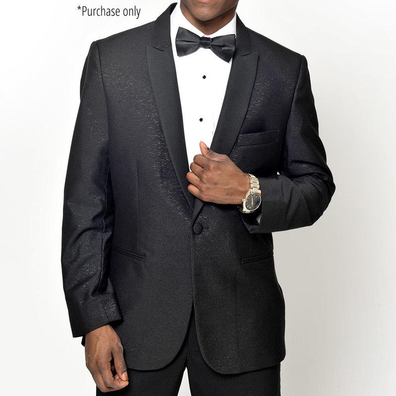 Savvi Black Sparkle peak lapel tuxedo coat for purchase