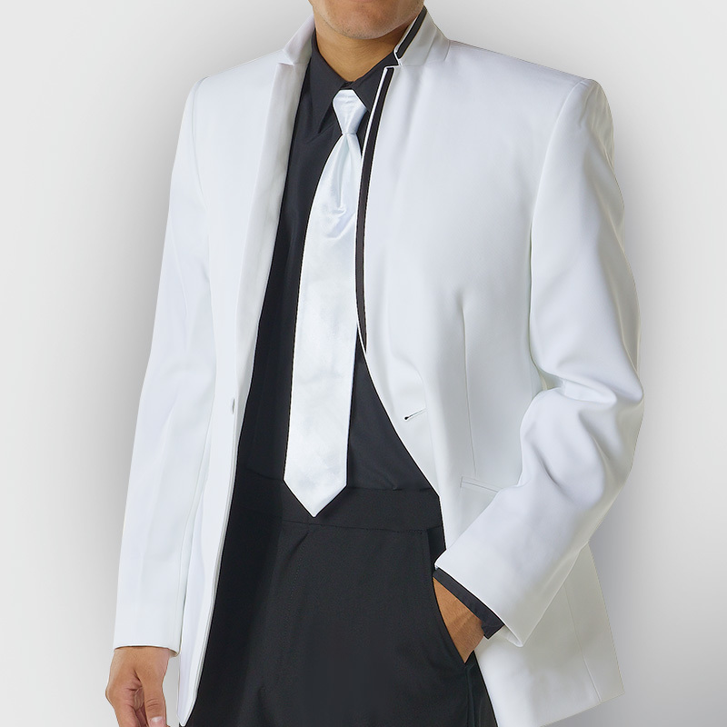 White Illusion Black Lined Tux