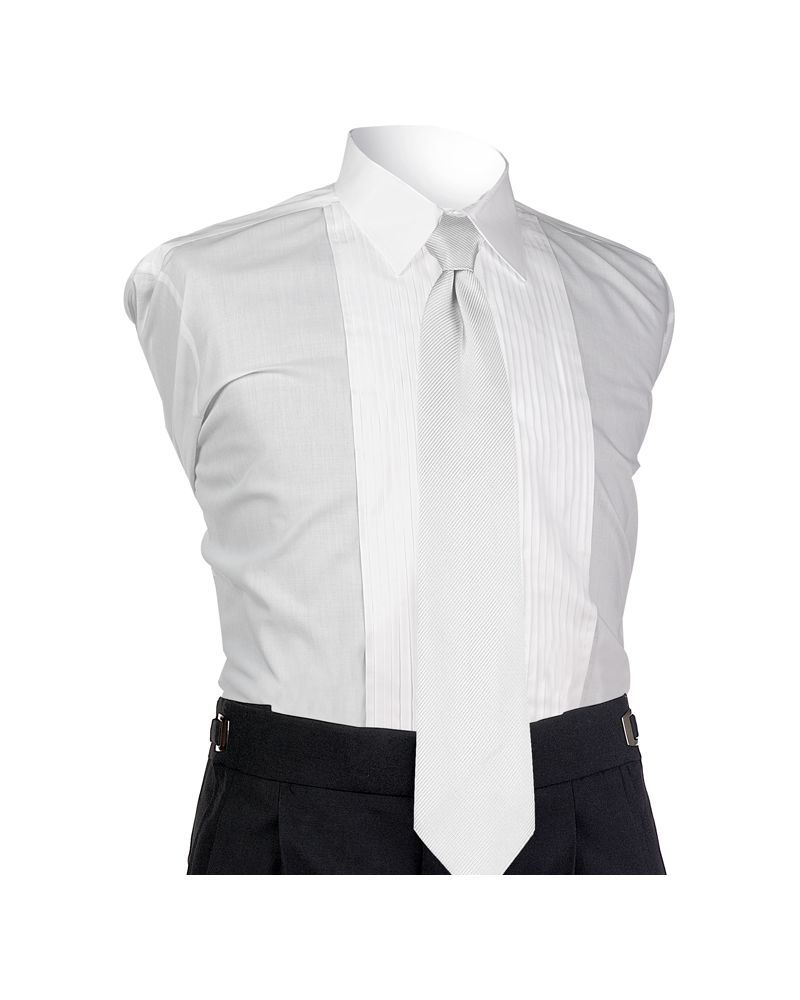 White Perfect 4-In-Hand Tie