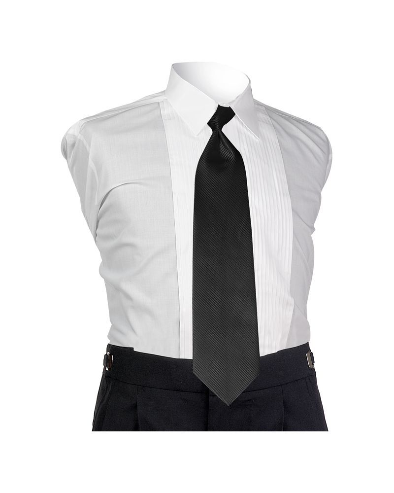 Black Faille 4-In-Hand Tie