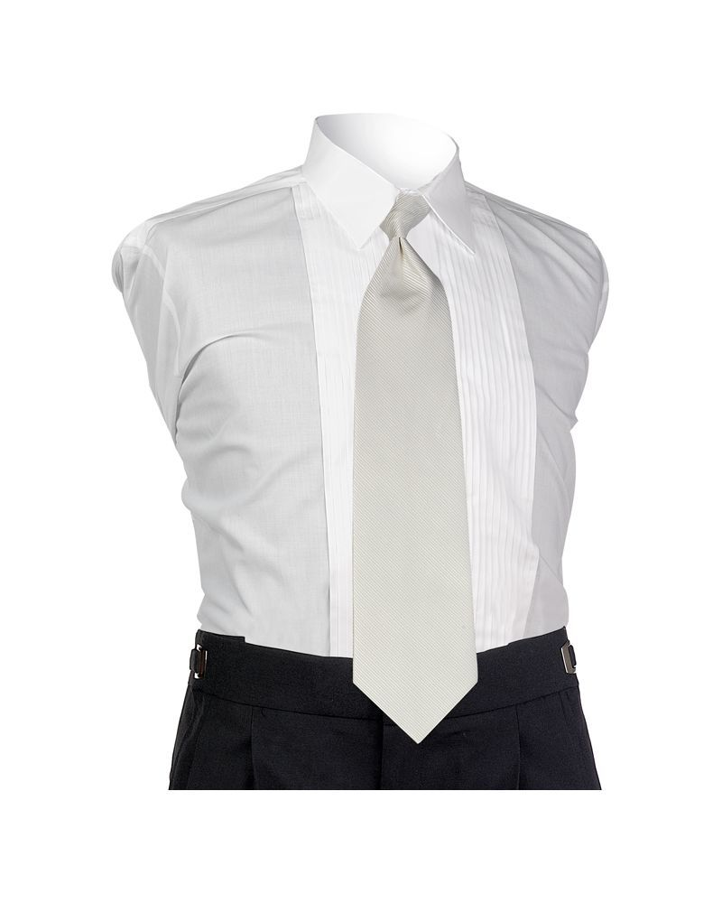 White Faille 4-In-Hand Tie