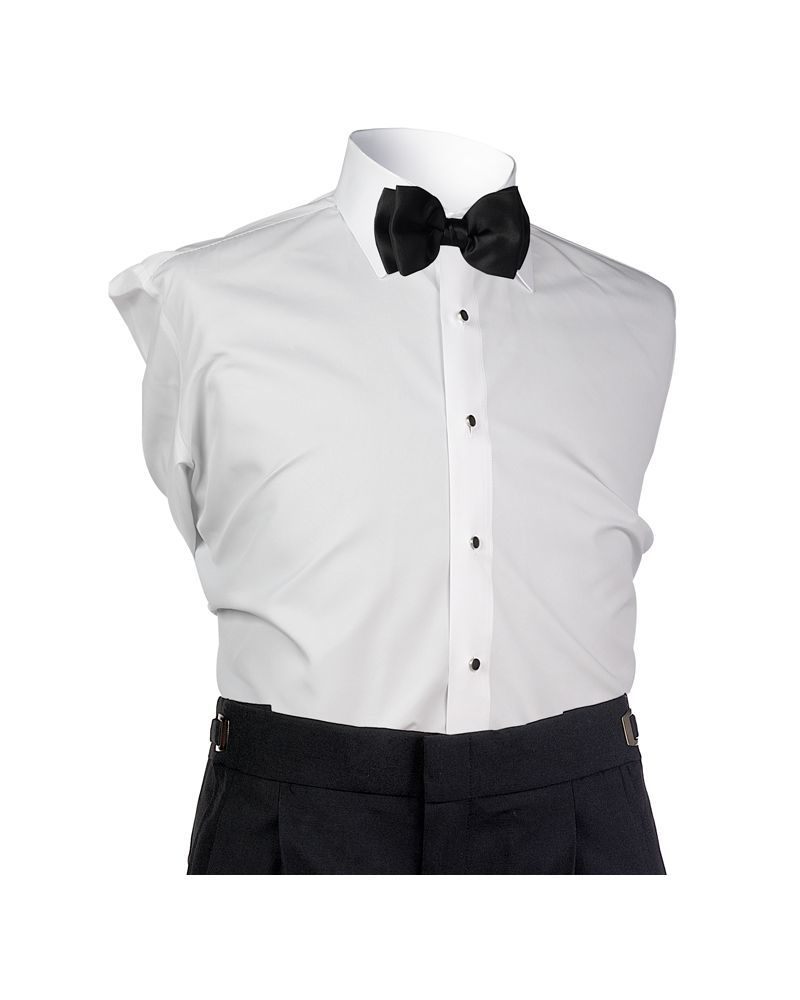White Microfiber Slim Fit Shirt