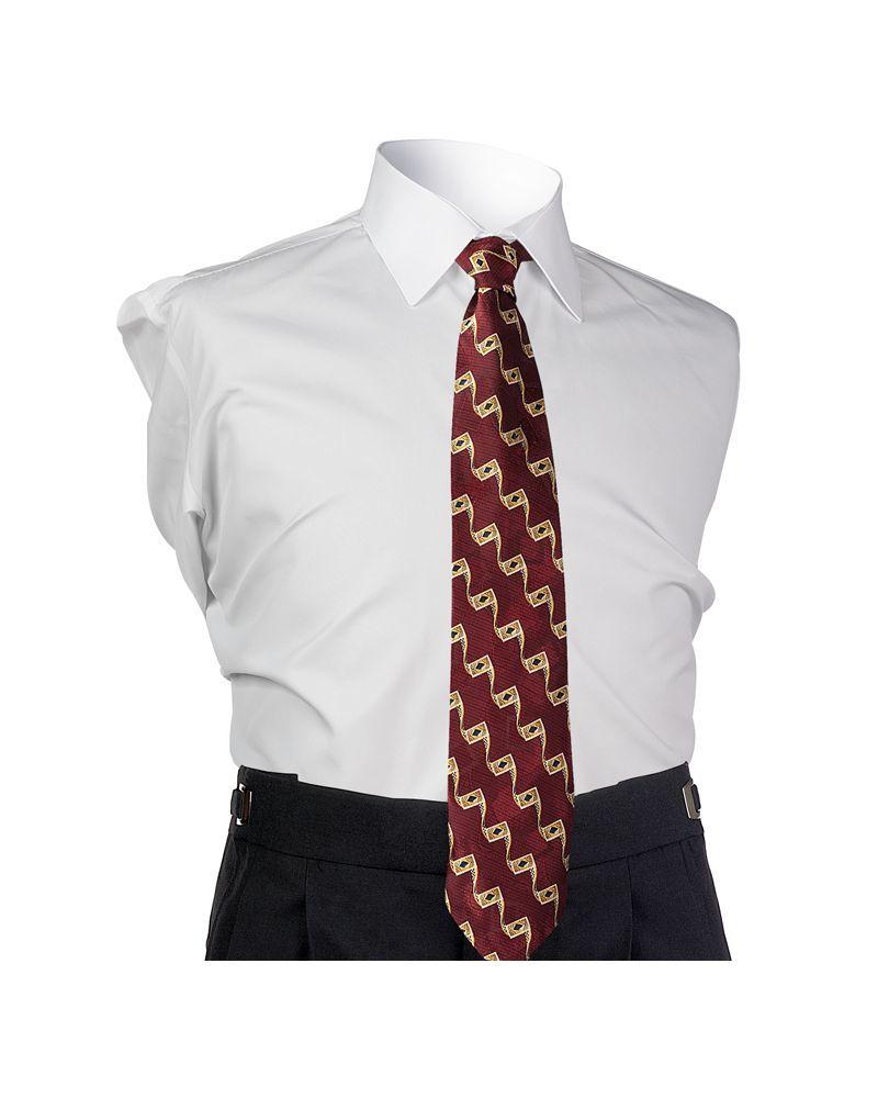 Burgundy 4-in-hand Tie