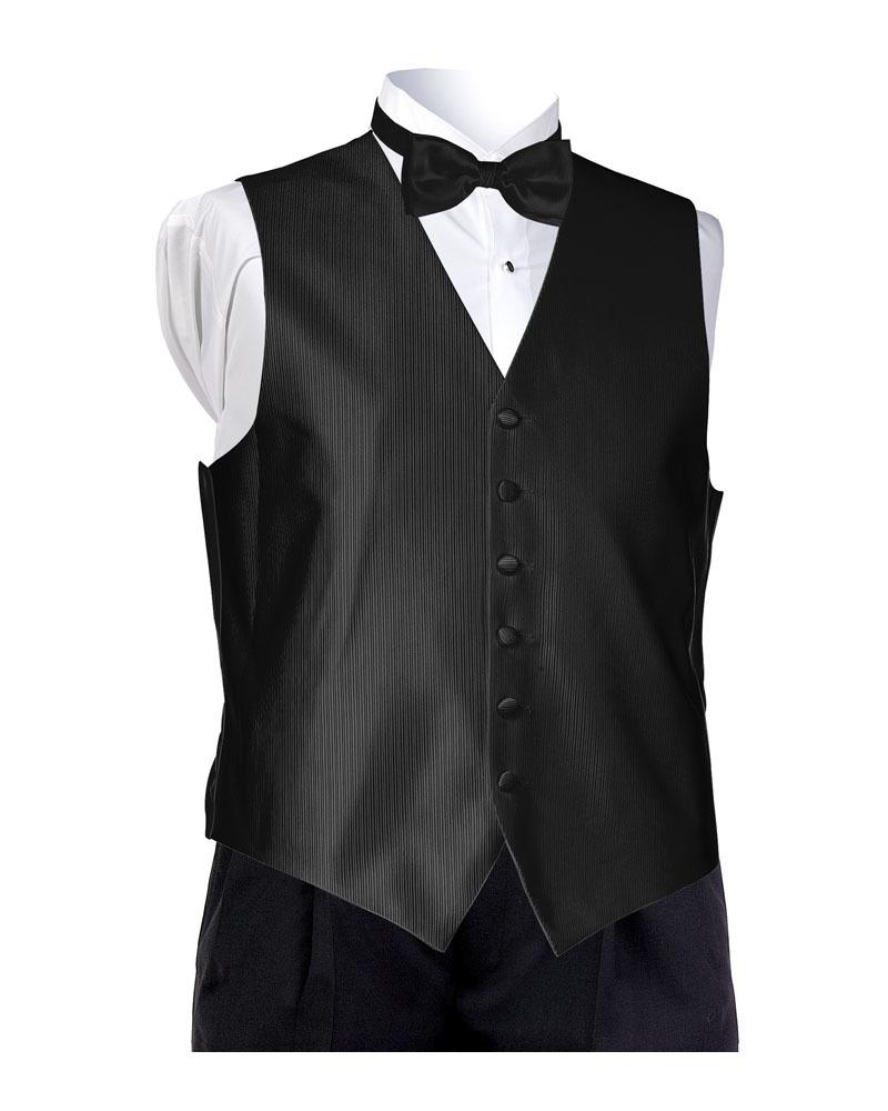 Black Faille Vest