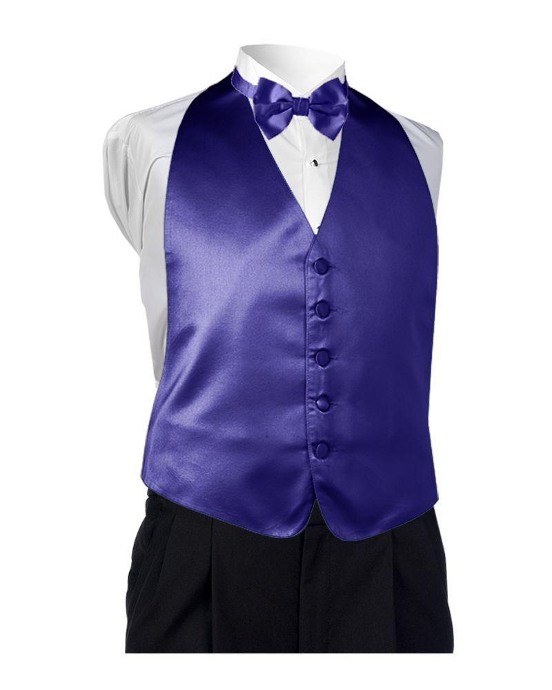 Satin Purple Vest