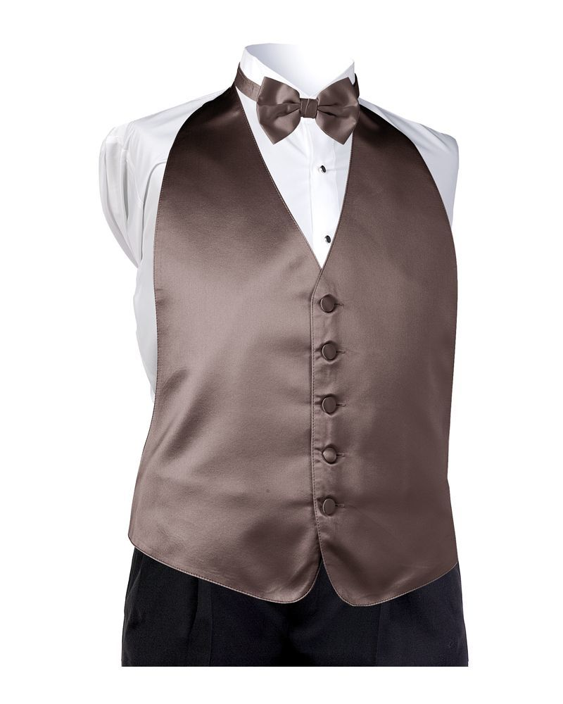 Satin Chocolate Vest