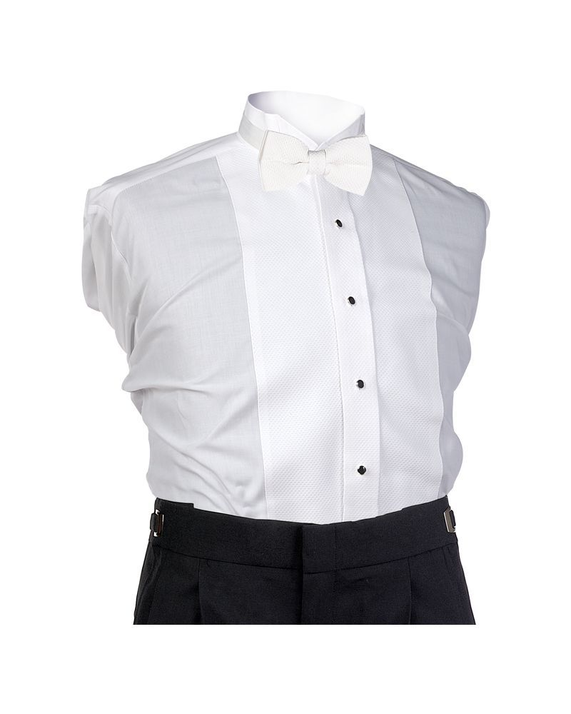 White Square Bow Tie