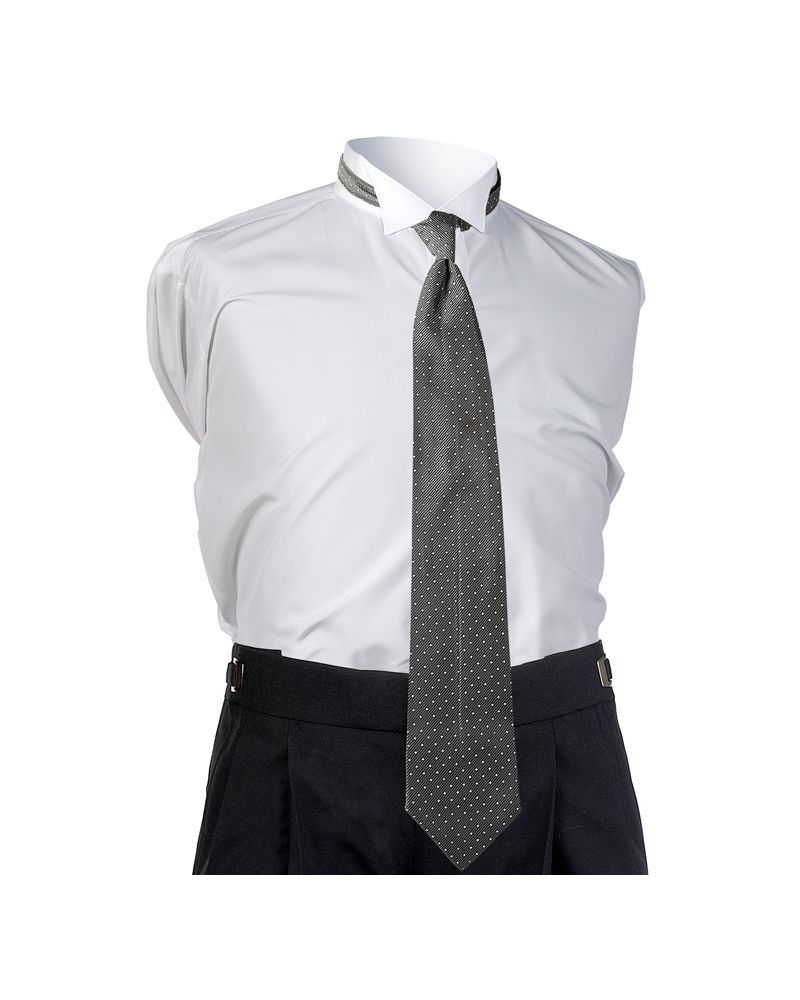 Silver Dot 4-in-hand Tie