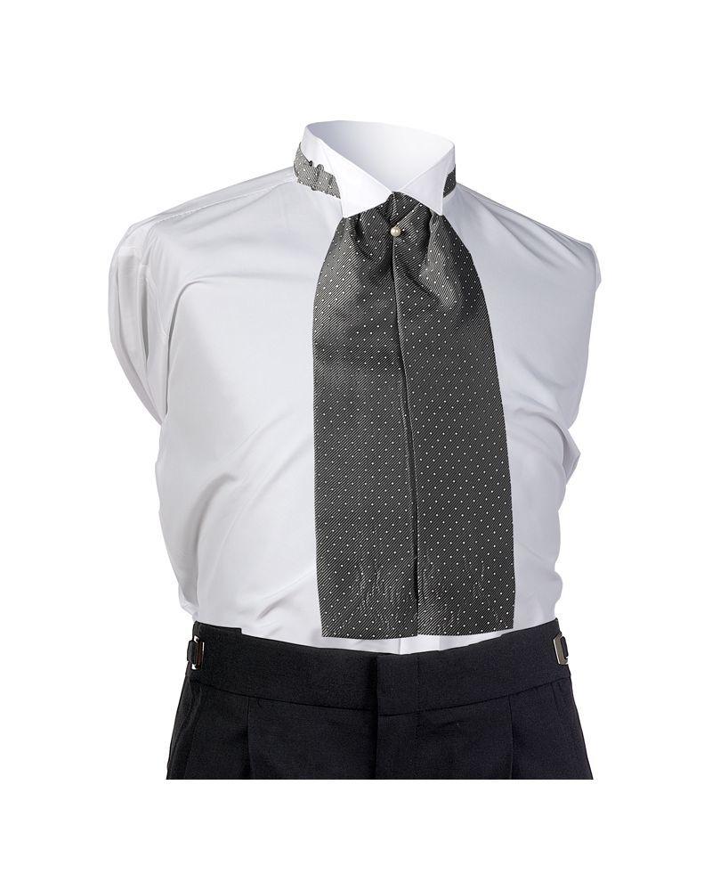Silver Dot Ascot Tie