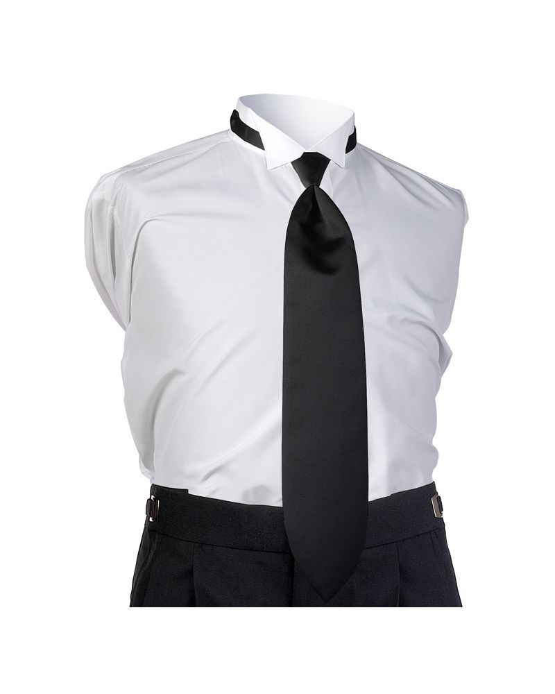 Black Satin 4-in-hand Tie""