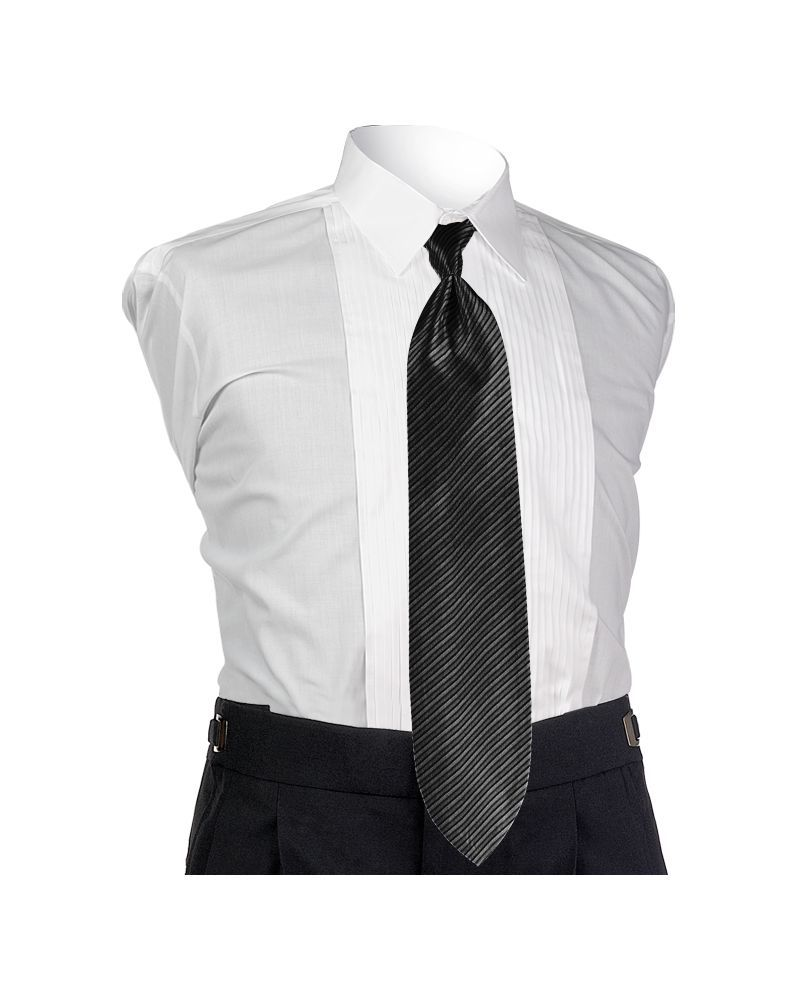 Synergy Black 4-in-hand Tie