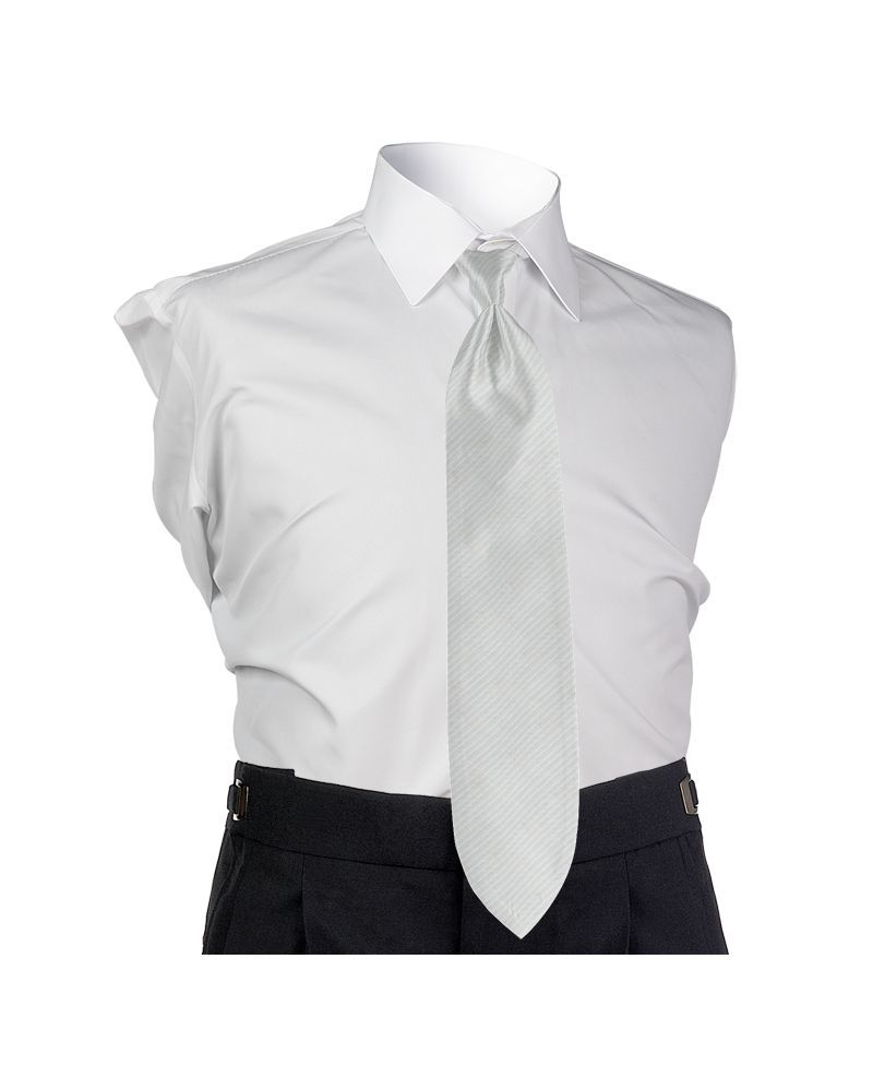 Synergy White 4-in-hand Tie