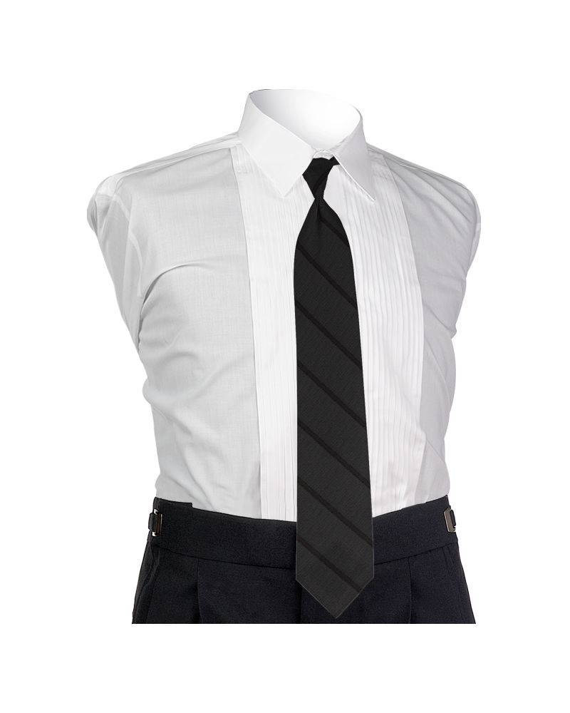 Carino Black Four-in-hand Tie