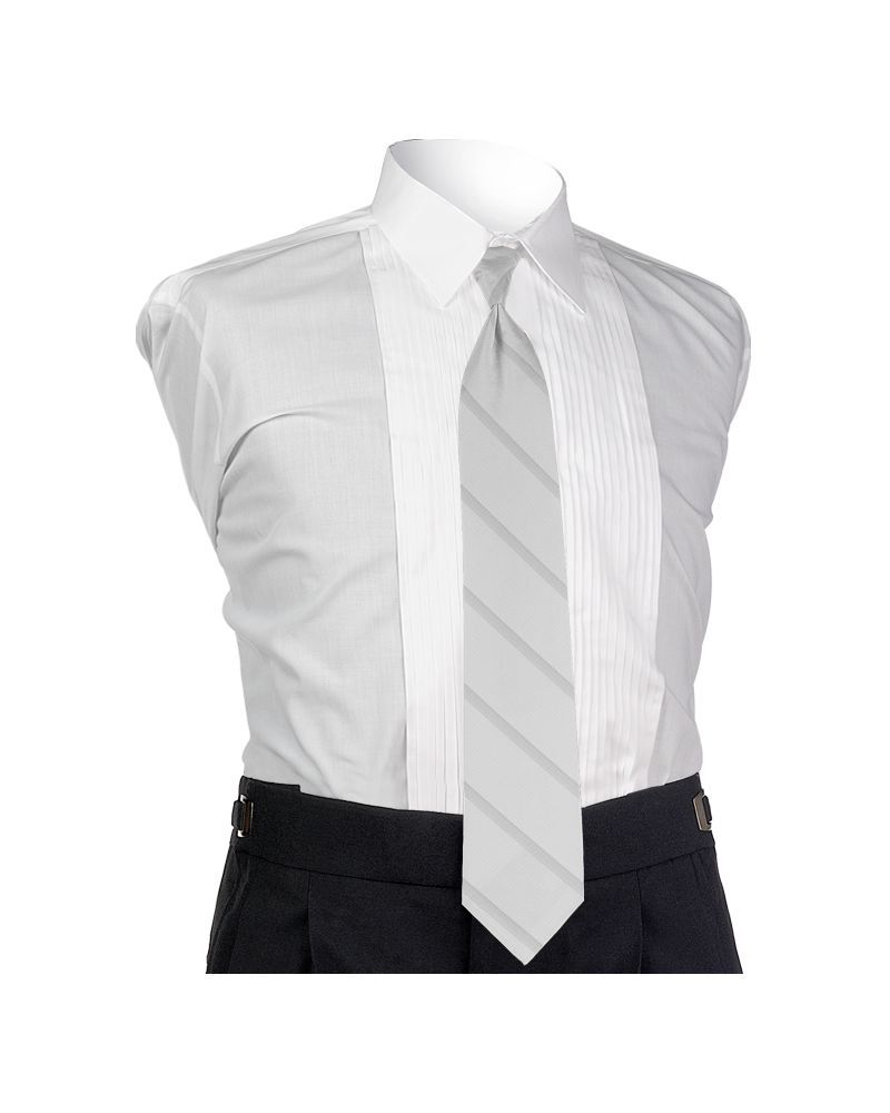 Carino White Four-in-hand Tie