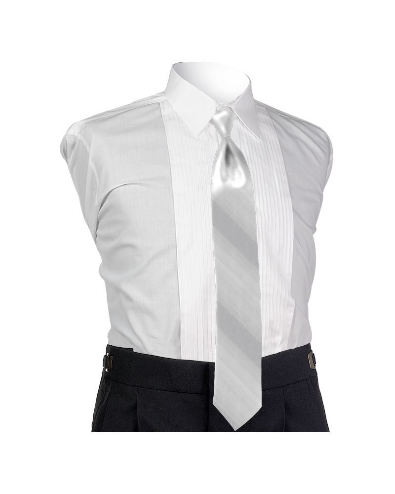 Ombre White 4-in-hand Tie