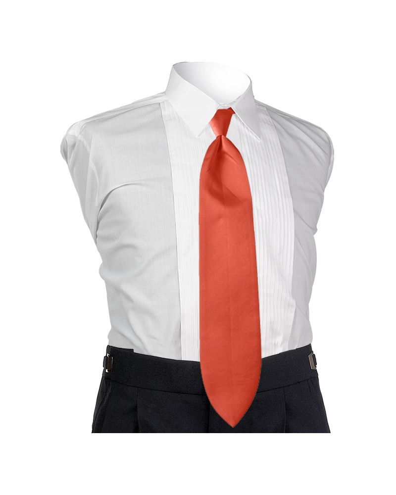 Satin Coral 4-in-hand Tie