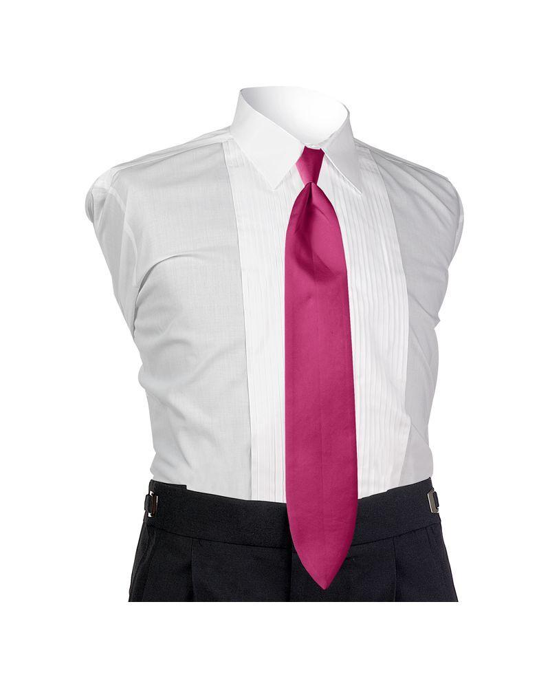 Satin Fuchsia 4-in-hand Tie