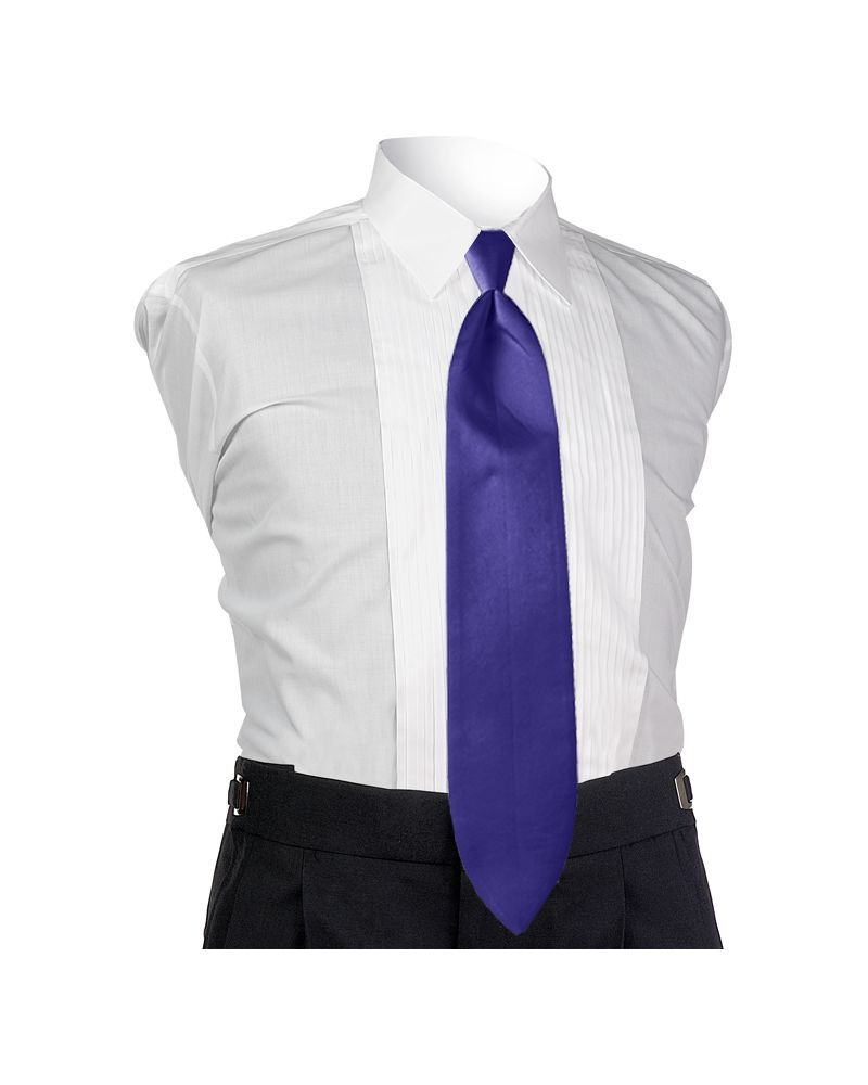 Satin Purple 4-in-hand Tie