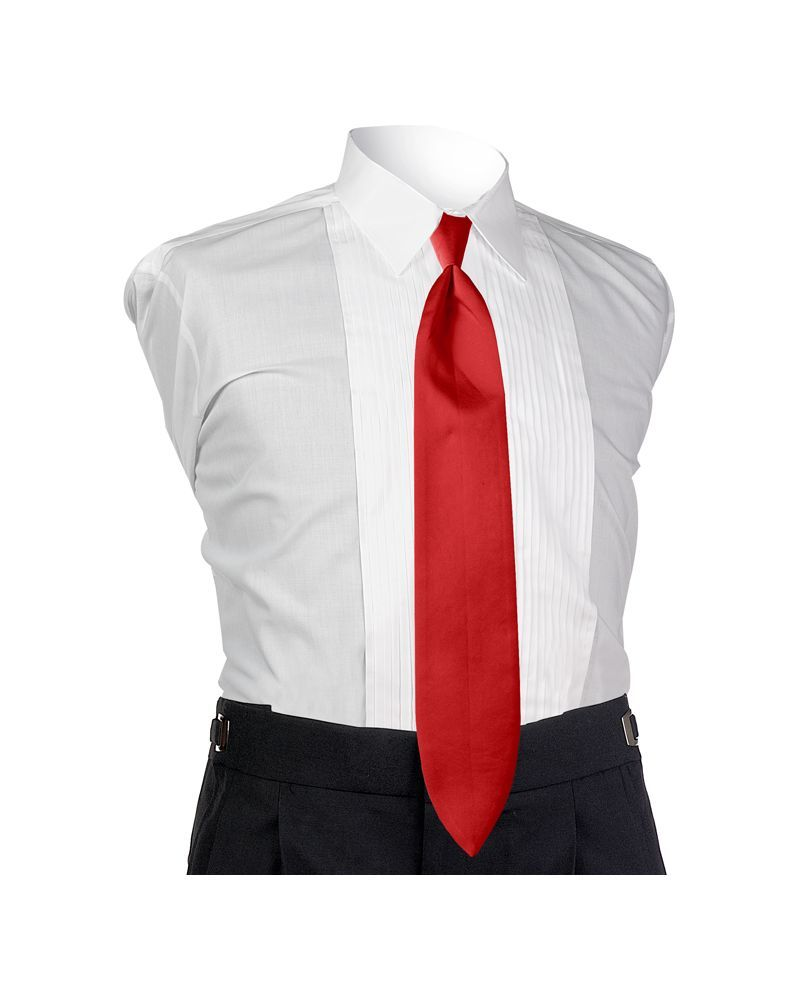 Satin Red 4-in-hand Tie
