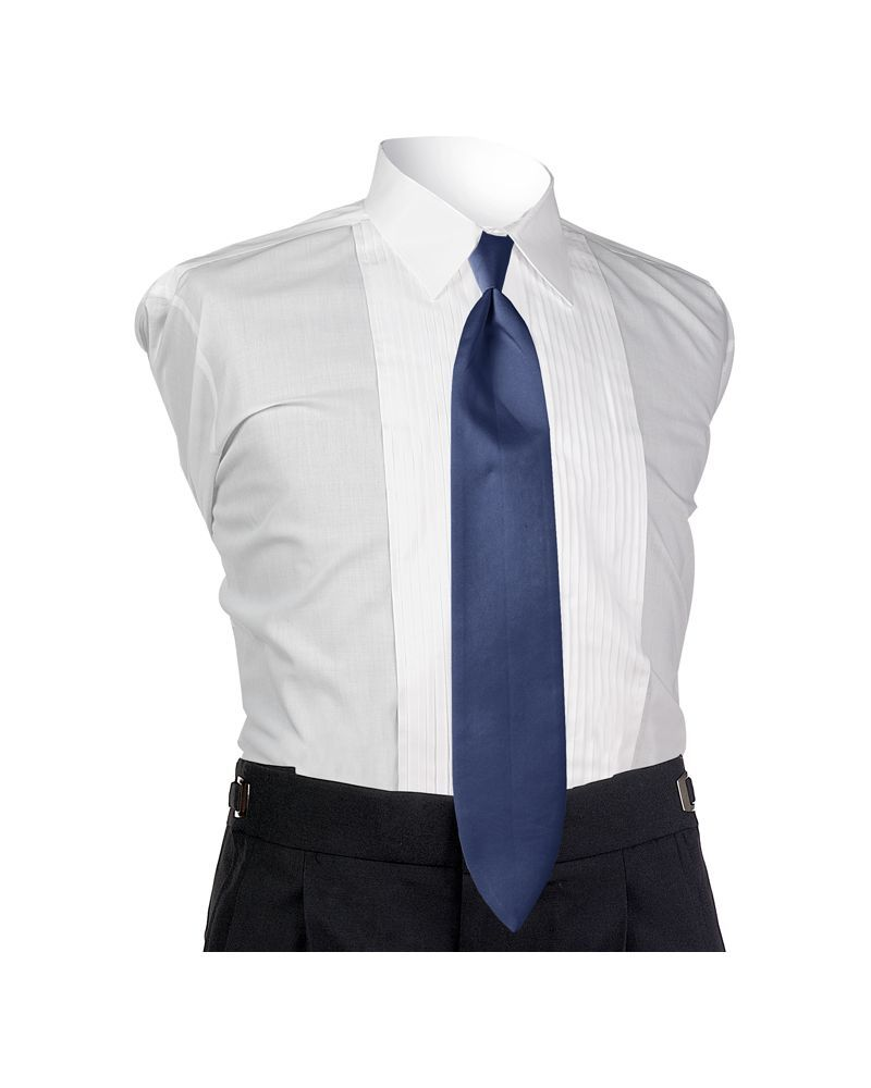 Satin Navy 4-in-hand Tie