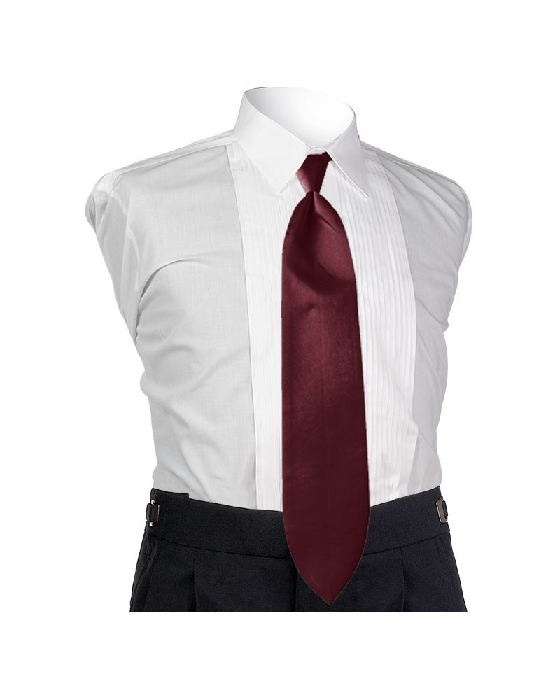 Satin Wine 4-in-hand Tie