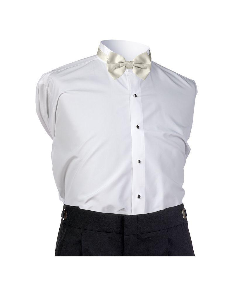 Ivory Satin Bow Tie