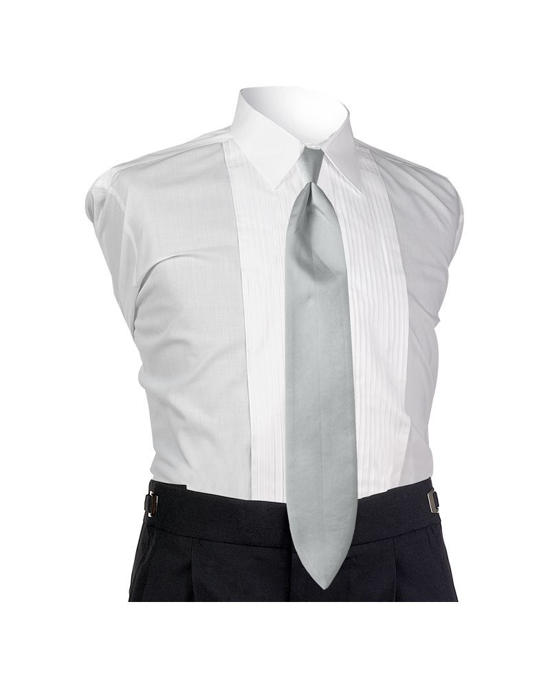 Satin Platinum 4-in-hand Tie
