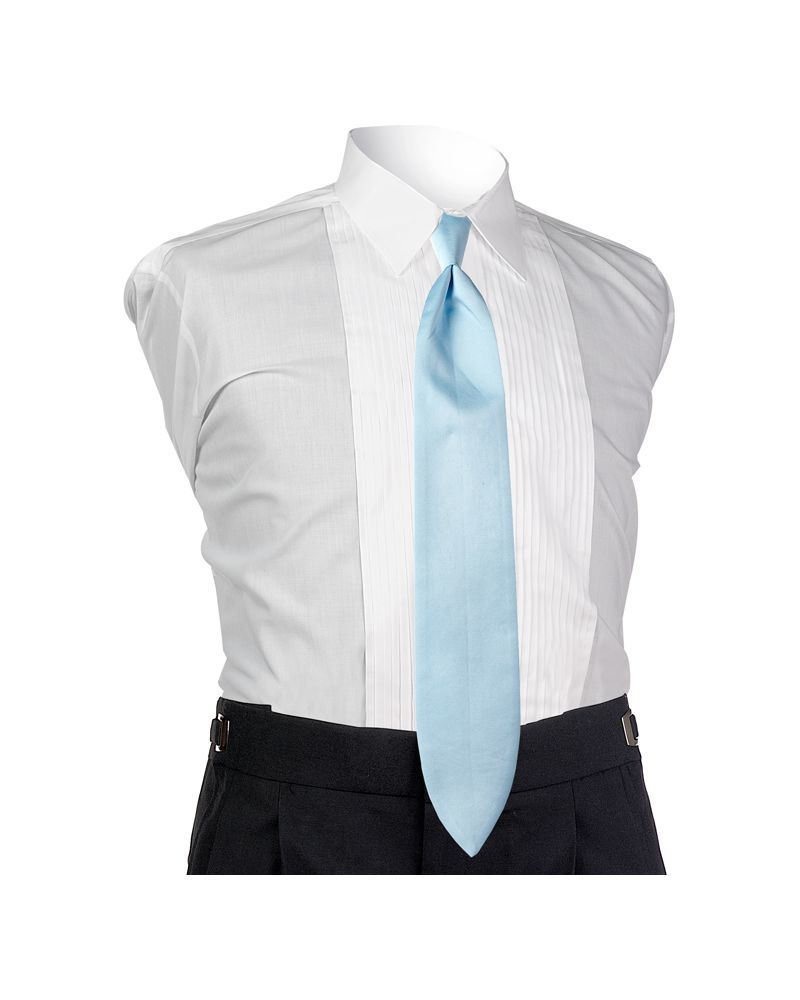 Satin Light Blue 4-in-hand Tie