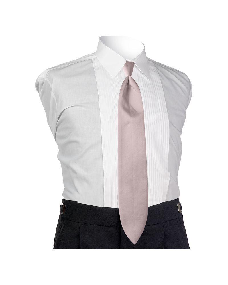 Satin Pink 4-in-hand Tie