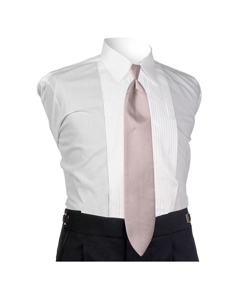 Satin Pink 4-in-hand Tie
