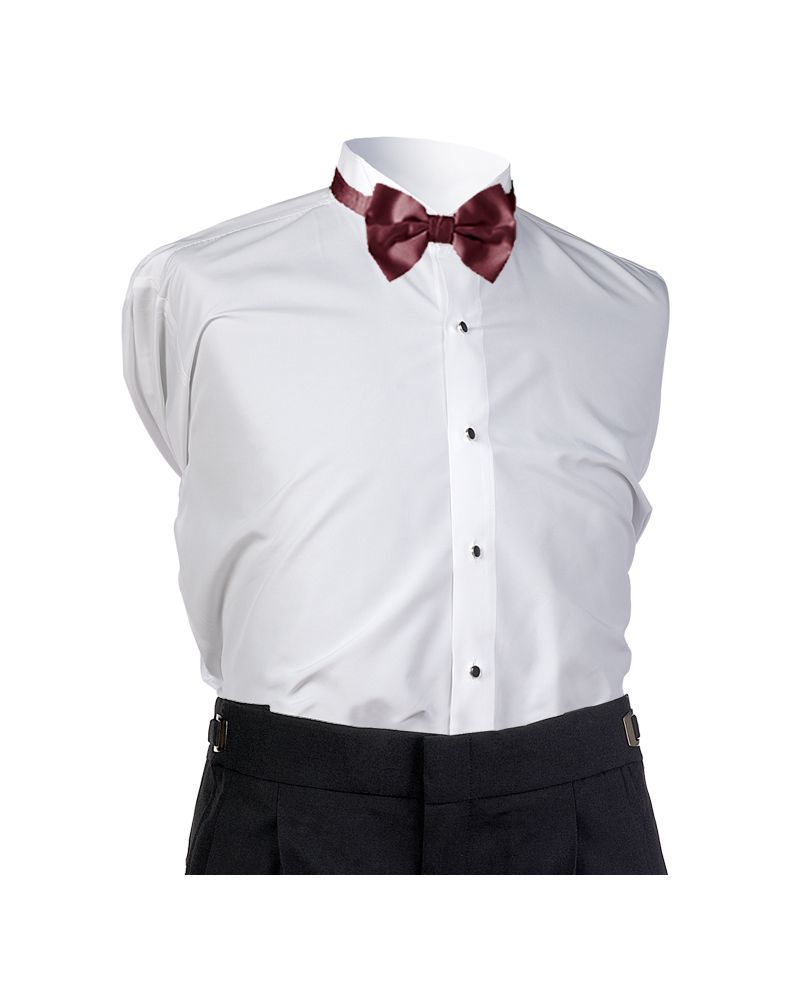 Wine Satin Bow Tie