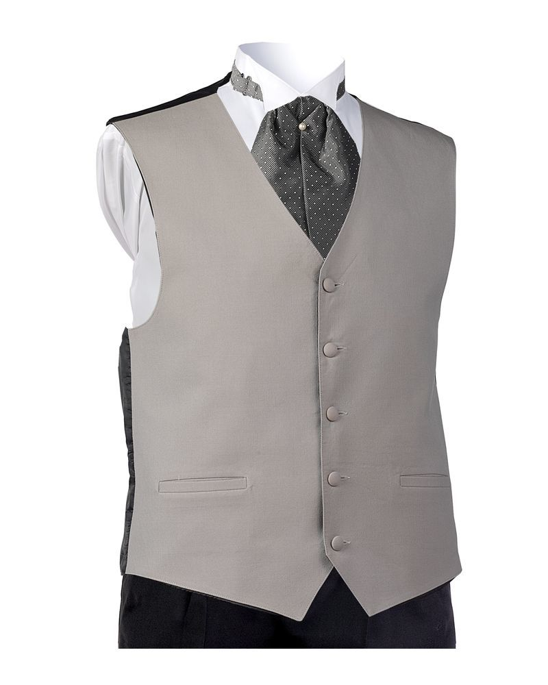 Dove Gray Wool Vest