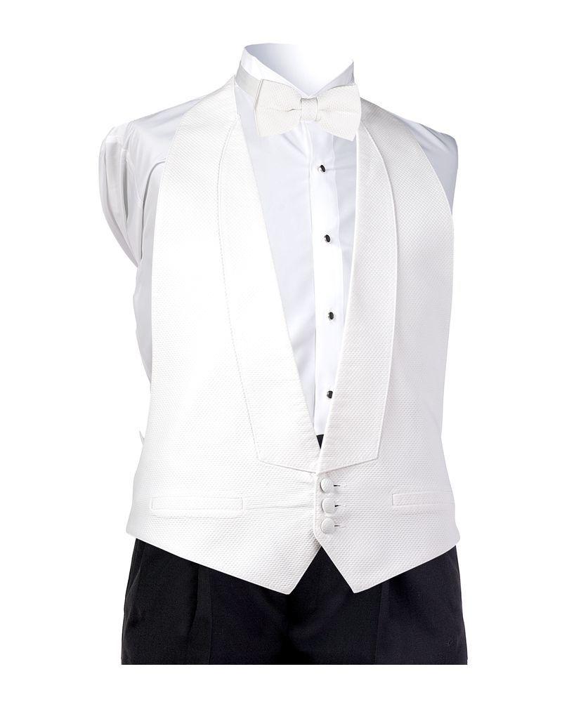 White Pique Vest