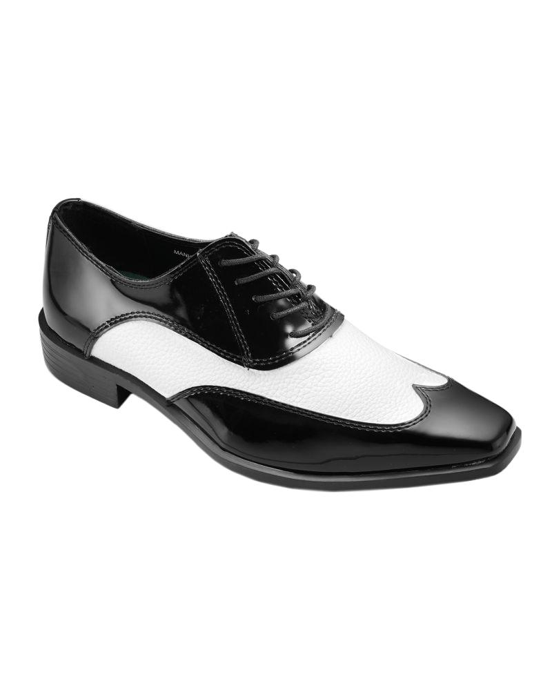 Black and White Manhattan Shoe