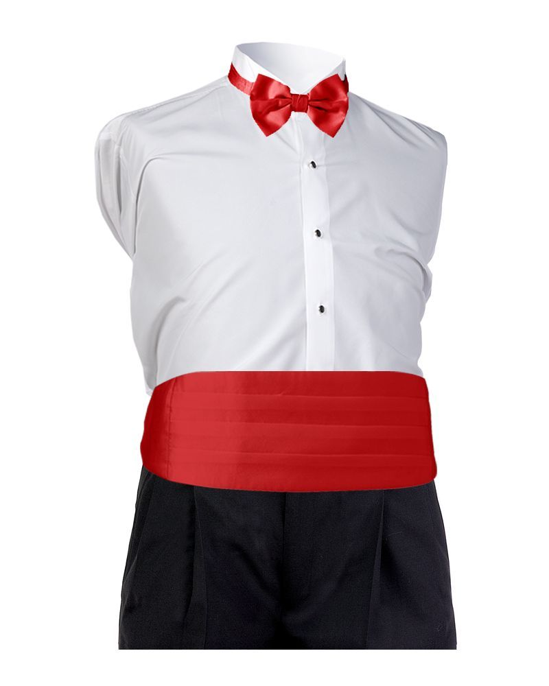 Red Satin Cummerbund