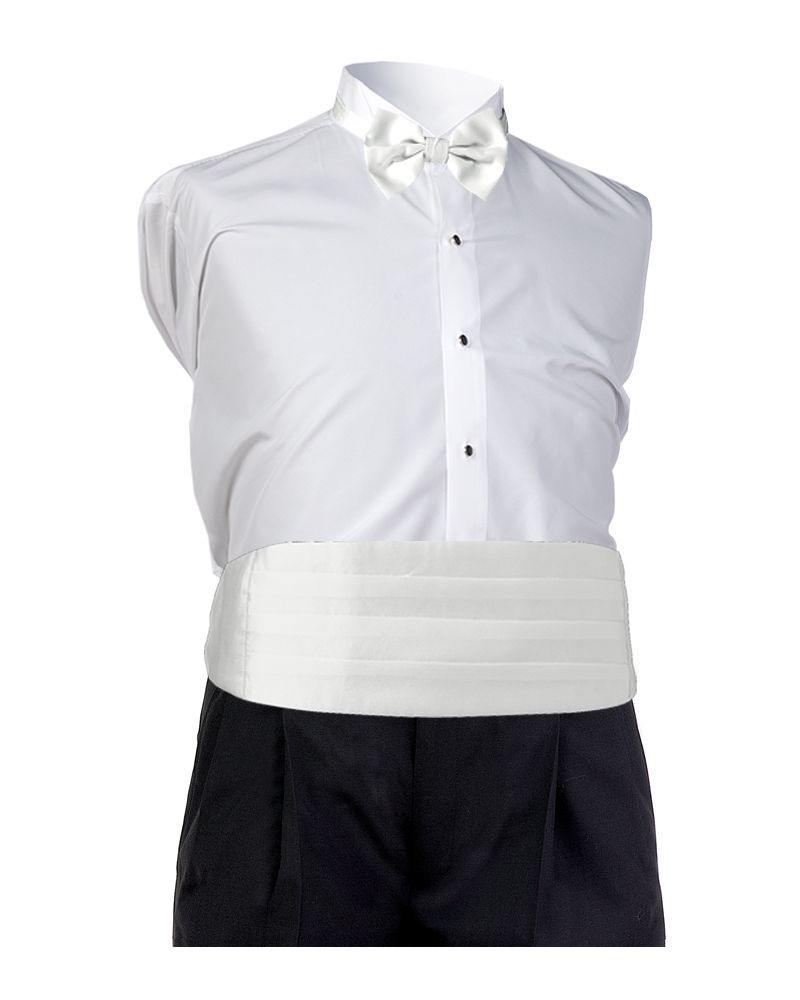 White Satin Cummerbund