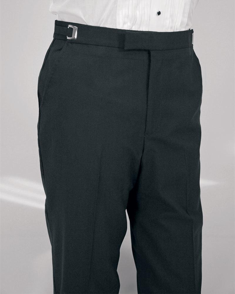 Black flat front pant