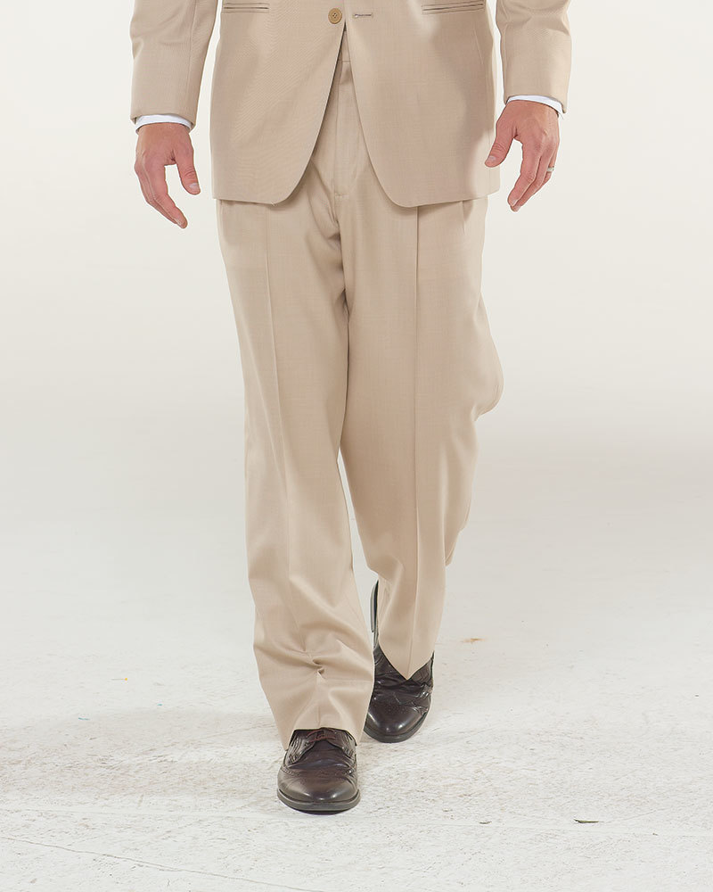 Sand Ceremonial Suit Pleated